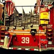 Engine 39 - New York City Fire Truck Art Print