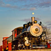 Engine 509 At Crossville Tennessee Puffing Art Print