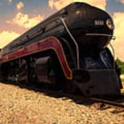 Engine #611 In Ole Town Petersburg Virginia Art Print