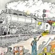 Engine On The Yard Art Print