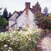 England Cottage Art Print