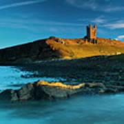 England, Northumberland, Dunstanburgh Castle Art Print