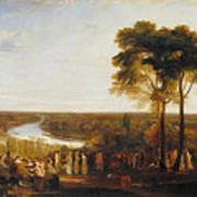 England, Richmond Hill, On The Prince Regent's Birthday Art Print