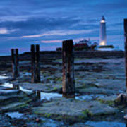 England, Tyne And Wear, St Marys Lighthouse Art Print