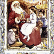 English Christmas Card Art Print