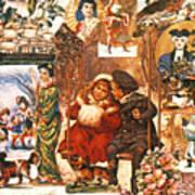 English Christmas Cards Art Print