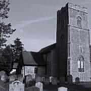 English Churchyard Art Print