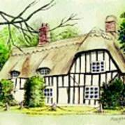 English Cottage In Cambridgshire Art Print