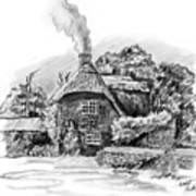 English Cottage Drawing By Scott Parker