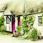 English Country Cottage Series Art Print