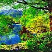 English Country Lake 1d Art Print