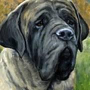 English Mastiff Black Face Art Print
