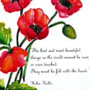 English Poppy   Poem Art Print