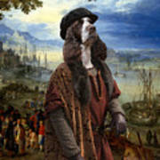 English Springer Spaniel Art Canvas Print  - The Port Art Print