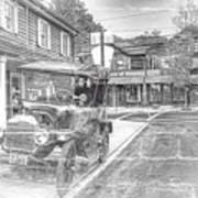 Englishtown New Jersey Classic Car Art Print