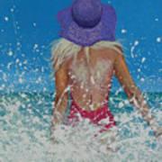Enjoying The Sea Art Print