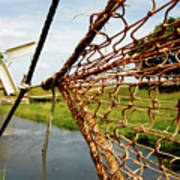 Enkhuizen Windmill And Nets Art Print