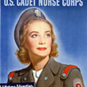 Enlist In A Proud Profession - Join The Us Cadet Nurse Corps Art Print