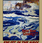 Enlist In The Navy - Help Your Country Art Print