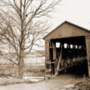 Enochsburg Indiana Covered Bridge Art Print