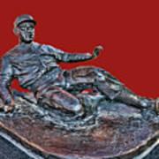 Enos Country Slaughter Statue - Busch Stadium Art Print