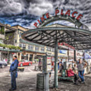 Entering Pike Place Art Print
