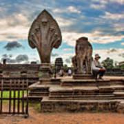 Entrance To Angkor Wat  Art Print