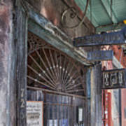 Entrance To Preservation Hall, New Orleans Art Print