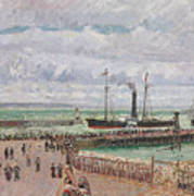 Entrance To The Port Of Le Havre And The West Breakwaters Art Print