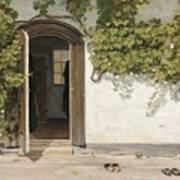 Entrance To The Rectory At Hill Place Art Print