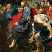 Entry Of Christ Into Jerusalem Art Print