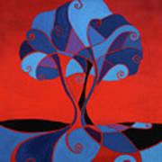 Enveloped In Red Art Print