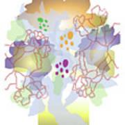 Enviro-web Florescence II Art Print