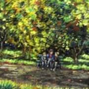 Eoin Miraim And Cian In Botanic Gardens Art Print