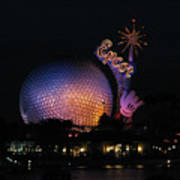 Epcot At Night II Art Print