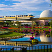 Epcot - Disney World Art Print by Michael Tesar