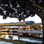 Epcot Tron Monorail Art Print by Carol  Bradley