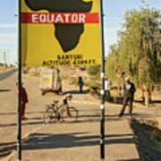 Equator In Kenya Art Print