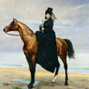 Equestrian Portrait Of Mademoiselle Croizette Art Print