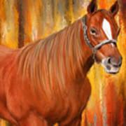 Equine Prestige - Horse Paintings Art Print