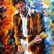 Eric Clapton Art Print by Leonid Afremov