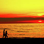 Erie Beach Sunset Art Print