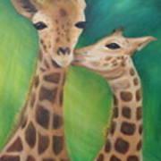 Erina's Giraffes Art Print