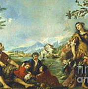Erminia And The Shepherds Art Print
