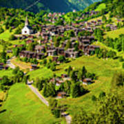 The Alpine Village Of Ernen In Switzerland  Art Print