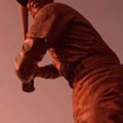 Ernie Banks Sculpture Art Print