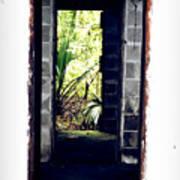Eroding Door Leading To The Forgotten  Art Print