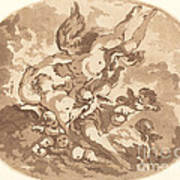 Eros And Psyche Art Print