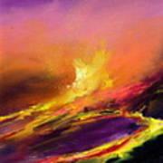 Eruption By Night Art Print