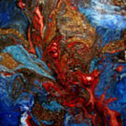 Eruption In The Deep Art Print